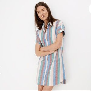 MADEWELL Central Stripe Shirtdress LIKE NEW